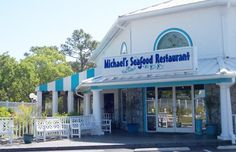 Possible place to eat. Michael's Seafood in Carolina Beach NC. The best seafood and chowder South Carolina, North Carolina Beaches, North Carolina Homes, Zion Camping, Big Bear Camping, Kure Beach Nc, Best Seafood Restaurant, Best Places To Camp, Wrightsville Beach