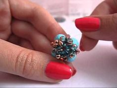 Square-look earrings.  Easy to follow.  #Seed #Bead #Tutorials