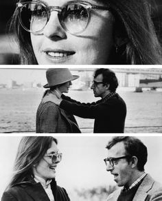 """Diane Keaton and Woody Allen in """"Annie Hall"""" I lurve you, I loave you, I luff you with 2 fs. Annie Hall, Love Film, Love Movie, Movie Stars, Movie Tv, Woody Allen, Series Quotes, Diane Keaton, Tv Couples"""