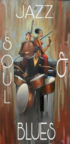 Ideas black art painting jazz frank morrison for 2019 Black Art Painting, Black Artwork, Jazz Painting, African American Artist, African Art, Action Painting, Frank Morrison Art, Jazz Poster, Jazz Art