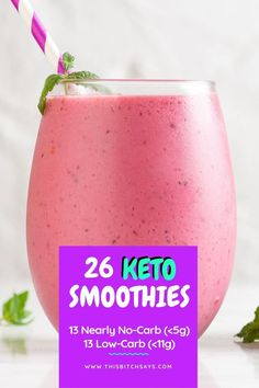 26 Keto Smoothies for ANY Craving – This Bitch Says Check out these 26 fantastic keto smoothie recipes. Including 13 nearly no-carb smoothies of net carbs) and 13 low-carb smoothies net carbs). There's a keto smoothie for everyone! Keto Smoothie Recipes, Low Carb Smoothies, Apple Smoothies, Breakfast Smoothies, Smoothie Drinks, Smoothie Diet, Diet Drinks, Chocolate Smoothies, Beverages