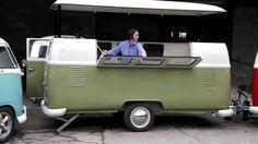 Resultado de imagen para combi food Food Trucks, Kombi Food Truck, New Trucks, Vw Bus, Volkswagen, Truck Tailgate, Truck Camping, Kombi Trailer, Fiberglass Camper