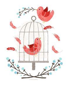 Pretty bird illustration :)