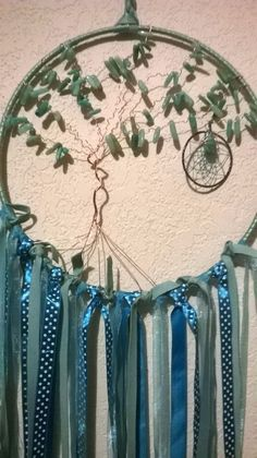 Indian Amazonite gem Tree of Life Dreamcatcher to the Crystal Moon,handcrafted