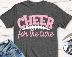 Breast Cancer svg cheer for the cure svg SVG DxF pink out Cheer Coach Shirts, Cheerleading Shirts, Cheer Coaches, Team Shirts, Cheerleading Stunting, Cheerleading Photos, Breast Cancer Shirts, Cancer Awareness Shirts, Football Cheer