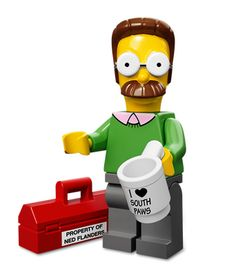 Ned Flanders The Simpsons Minifig - LEGO Simpsons Minifigs Ned Flanders, Lego Simpsons, Minifigura Lego, Lego Toys, Lego Men, Lego Batman, Krusty The Clown, Simpsons Characters, Lego People