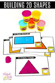Building Shapes: These fun Grade Math activities help students understand basic geometry with the use of shapes and fractions in a hands-on way! Math 2, 1st Grade Math, Math Games, First Grade, Grade 1, Math Activities, Second Grade, Brain Games, Core Learning