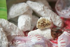 Mama's Pecan Finger Cookies (Cocoons), Crescents and Snowball Cookies - A heritage recipe from my Mama's collection, these pecan shortbread finger cookies are known by many names. This recipe is just perfect and yes, the extract amount is correct. It is the one Christmas cookie above all others in my holiday baking!