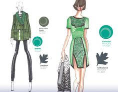 Emerald and deep lichen green with a touch of grey for Fall Winter 2013.