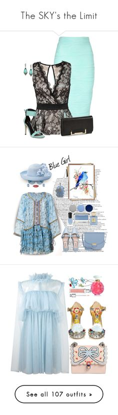"""The SKY's the Limit"" by halcyon-heart ❤ liked on Polyvore featuring Jane Norman, AX Paris, Dorothy Perkins, Judith Jack, Ivanka Trump, Poupette St Barth, Karen Walker, Betmar, Burberry and Clinique"