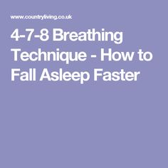4-7-8 Breathing Technique - How to Fall Asleep Faster