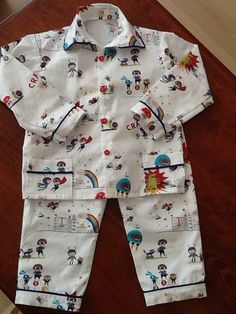 Pyjama Arthur -  Tissu Linna Morata #ChristelleLardenois