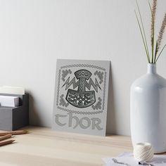 'Thor Celtic God' Art Board Print by KrasiStaleva Framed Prints, Canvas Prints, Art Prints, Velcro Dots, Watercolor Texture, Chor, Glossier Stickers, Art Boards, Celtic