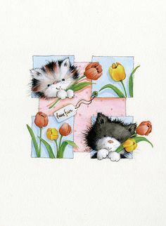 Милые кошки в иллюстрациях художницы Maria Woods. Комментарии : LiveInternet - Российский Сервис Онлайн-Дневников