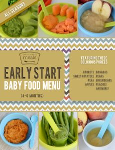 Early Start Baby Food Menu (4-6 months)
