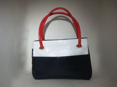 Vintage Color Block Handbag  Purse by HazelRoberts on Etsy, $26.00