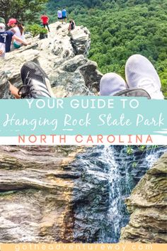 Hanging Rock State Park in North Carolina is a fantastic day trip option for the triangle or triad areas. Lots of hiking, waterfalls and camping here! Check our guide for visiting Hanging Rock! #hangingrock #northcarolina