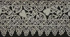 Length of Lace Italy, 1600-1650 Textiles; textile lengths Linen reticello needle lace 30 x 5 1/2 in. (76.2 x 13.97 cm)