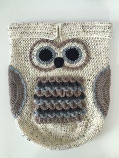 Crochet Owl Baby Cocoon