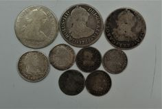 Check out these cool Early Spanish Reales from the late 1700s to early 1800s. We are always buying Gold and Silver Bullion Coins, International Currency, and also Jewelry. Our location information is below.   5324 Spring Hill Drive, FL