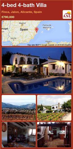 4-bed 4-bath Villa in Finca, Jalon, Alicante, Spain ►€790,000 #PropertyForSaleInSpain