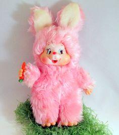SALE Vintage Easter Plush Bunny Rabbit by teresatudor on Etsy, $9.99