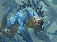 """""""Rumbling Baloth"""" by Jesper Ejsing   Magic : The Gathering   #Fantasy #Monsters"""