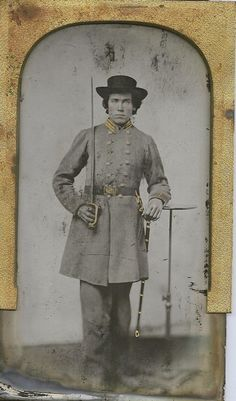 Confederate Ambrotype of Captian with North Carolina origins.