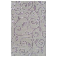 I pinned this Fogli Rug in Lavender from the Rug Market event at Joss and Main!