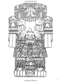 Aztec Designs Adult Coloring Books Colour Book Dovers Social Studies Homeschool Diy