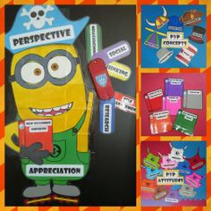 Awesome Pre K IB bulletin Board idea! Minion Classroom, Reggio Classroom, Classroom Displays, Classroom Themes, Ib Attitudes, Learner Profile, International Baccalaureate, Library Boards, Welcome Back To School