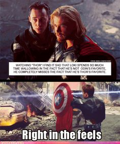 Loki and Thor...Right in the feels.