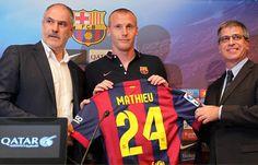 Nueva equipacion Mathieu Barcelona 2014-2015
