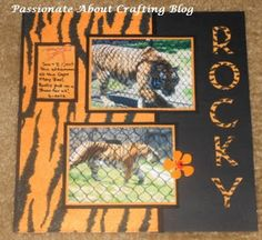Tiger at the Zoo Scrapbooking Layout