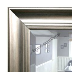 This wall mirror adds just the right distinction to any wall. Hang in the dining room, hallway or any room where a mirror would add depth to the space. Finished in Brushed Silver, producing a wall mirror with outstanding appeal. A wonderful finishing touch to any room. All framed mirrors have 2 wire hangers attached to the back (or 2 saw tooth hangers depending on size ) and are ready to hang. Can be hung vertically or horizontally.