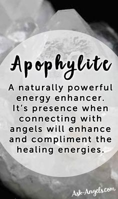 Apophylite is a naturally powerful energy enhancer. It's presence when connecting with angels will enhance and compliment the healing energies.  #crystals