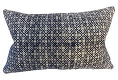 Tribal  Embroidered  Pillow - Eurostuff, OKL = LIVING ROOM TOSS