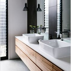 Superieur Modern Bathroom Vanities   A Bathroom Is An Important Room   Needing Style  Yet Function. Caesarstone Countertops Are Versatile And Durable Ticking All  Of ...