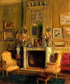 """Walter Gay ~""""Elsie de Wolfe's Drawing Room"""""""