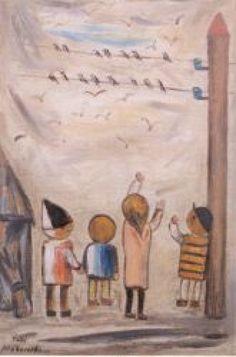 Tadeusz Makowski - Jaskolki, 1932 (The Swallows); National Museum Kracow