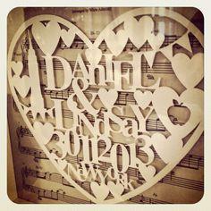 Papercut wedding picture