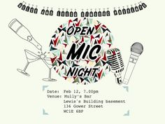 UCL x LSE Open Mic Night. Designed with Powerpoint.
