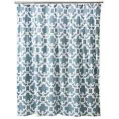 This is similar to one that was staged in the house. $19.99 Threshold™ Grid Shower Curtain Home - Blue