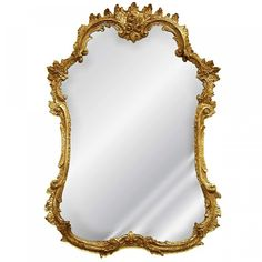 Shabby Old World White Rococo Rose French Mirror