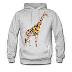 This Colorful Giraffe Hoodie is printed on a Hoodie and designed by towntees. Available in many sizes and colours. Buy your own Hoodie with a Colorful Giraffe design at Spreadshirt, your custom t-shirt printing platform!