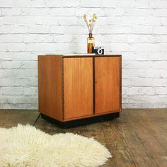 Vintage Teak LP Vinyl Cabinet