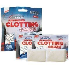 Adventure Medical QuikClot® Advanced Clotting Gauze, 2 pack