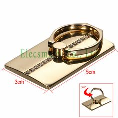 Deluxe Quality Universal Metal Ring Adhesive Stand  Rotate 360 Degrees For iPhone Cellphone Smartphone Ta
