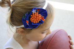 Florida Gators Headband Fabric Flower Headband Baby by BrileysBows, $9.50