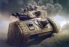 "a-40k-author: "" Leman Russ MBTs in action. """